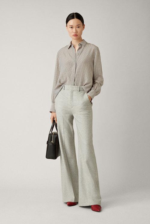 Jess Herringbone trouser Light grey