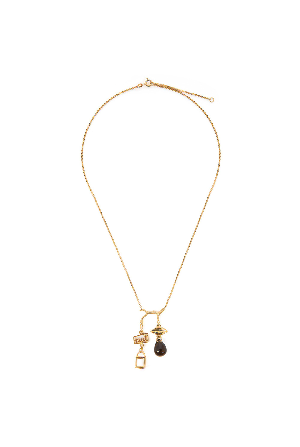 Charm cage necklace goldplated