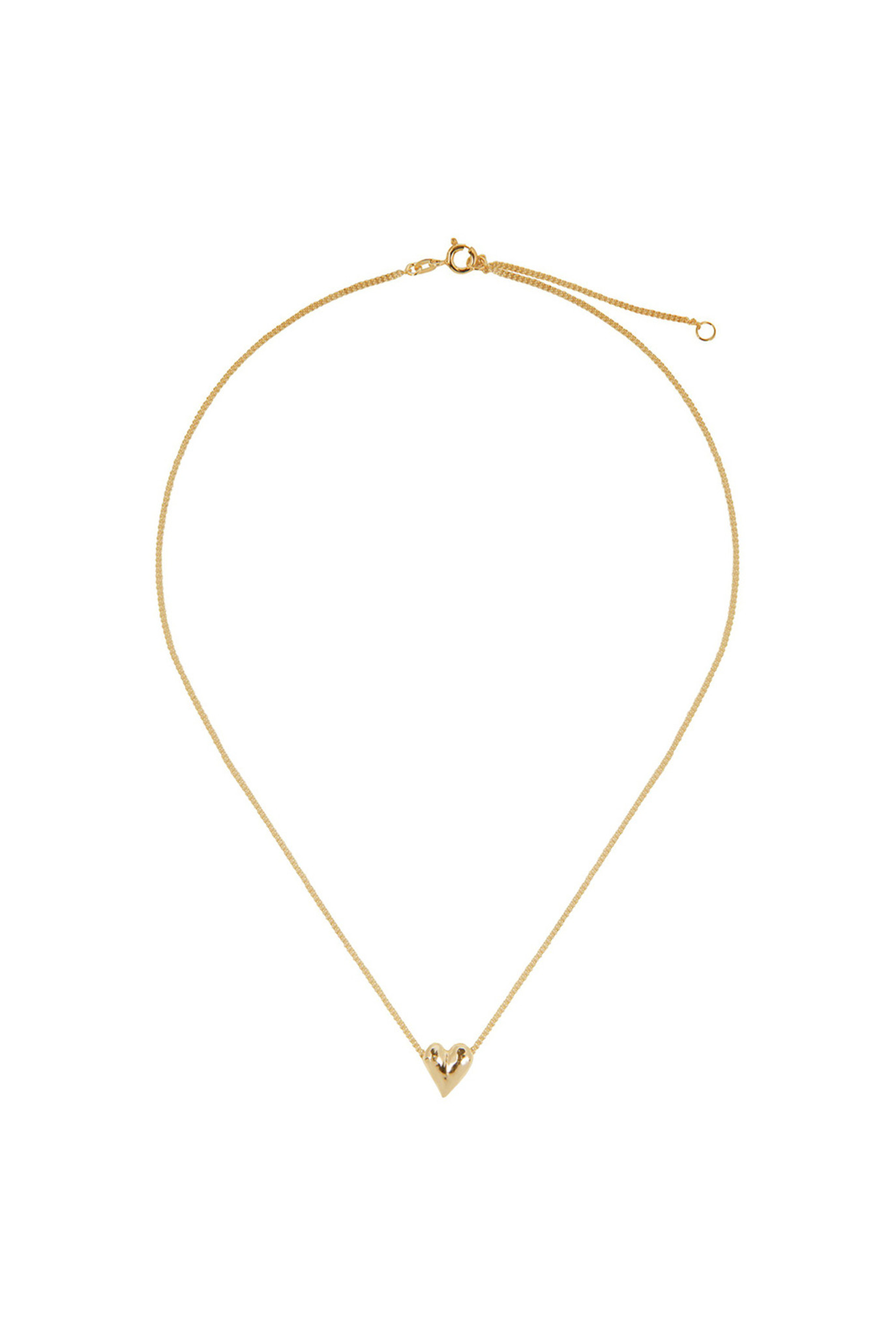 Heart necklace goldplated