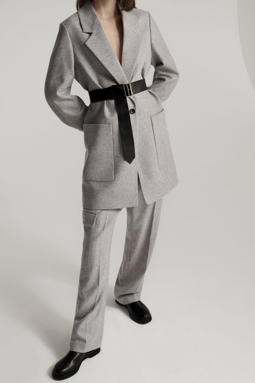 Laszlo Herringbone blazer Light grey