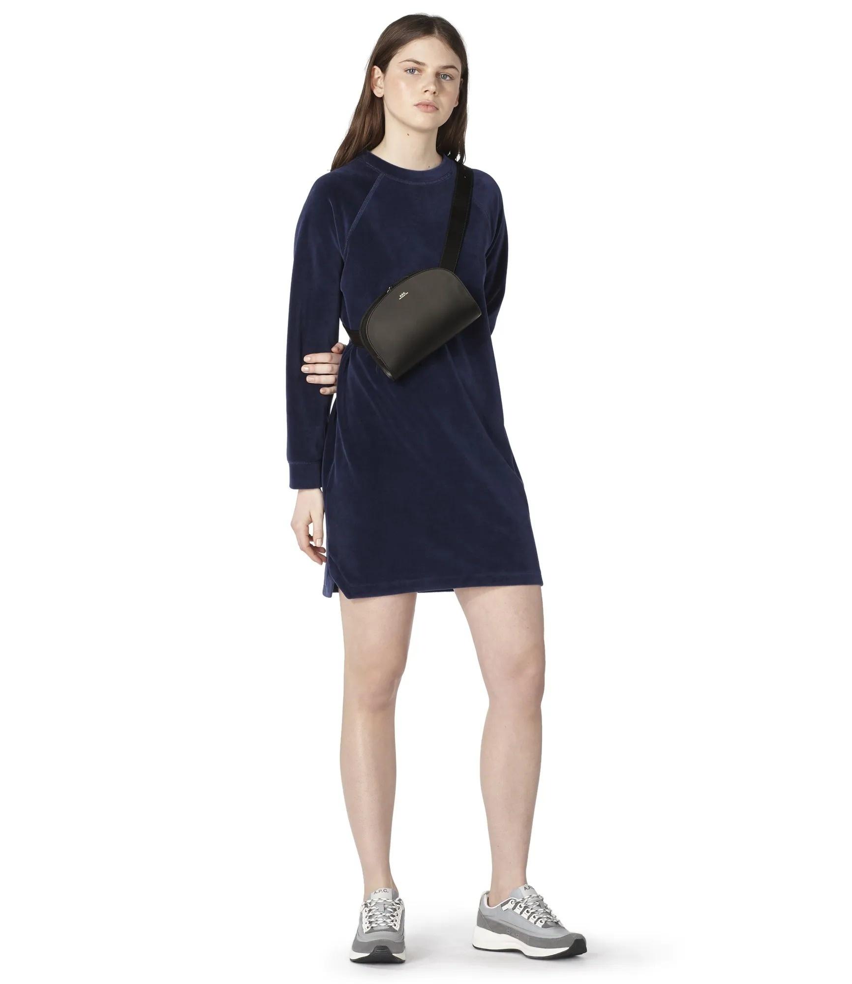 Half moon belt bag black