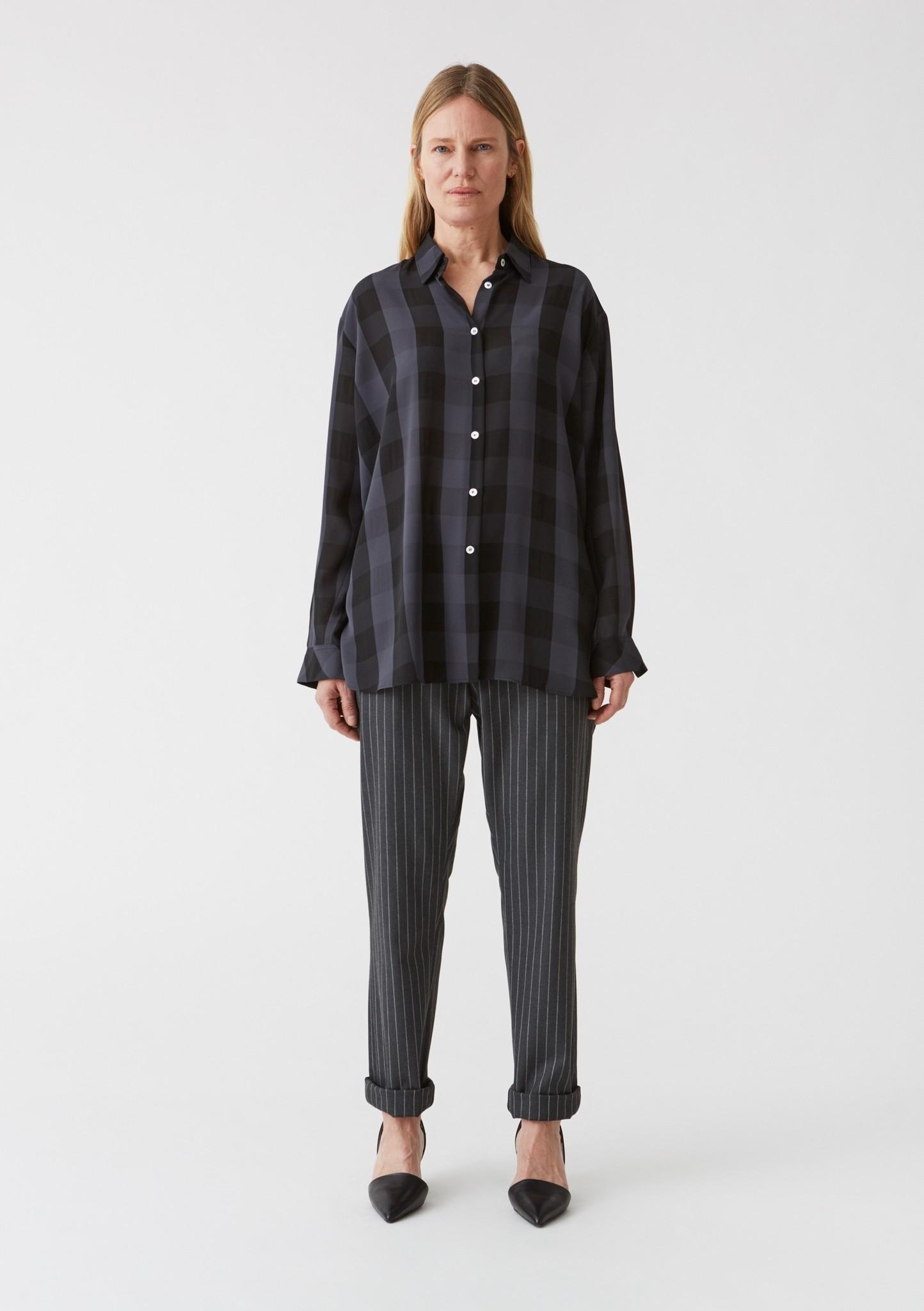 News trouser Grey Pinstripe