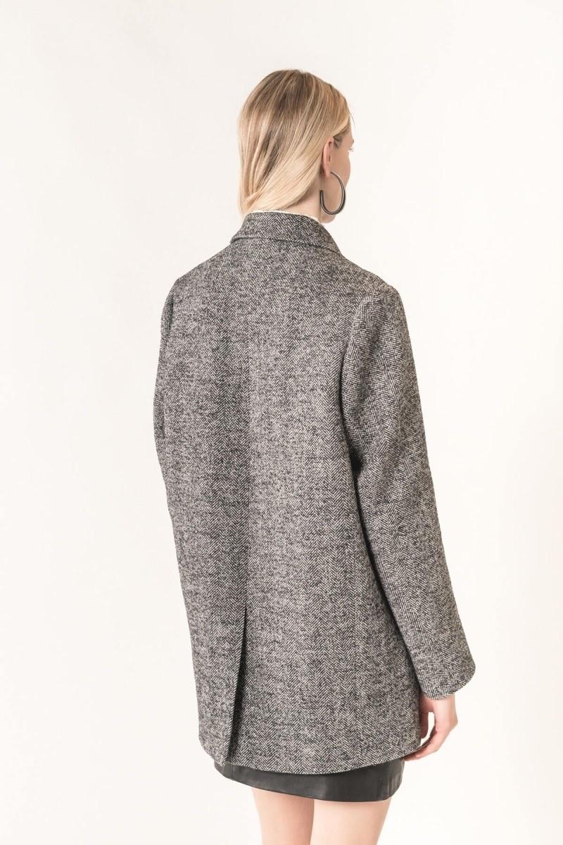 Marc jacket black/white herringbone
