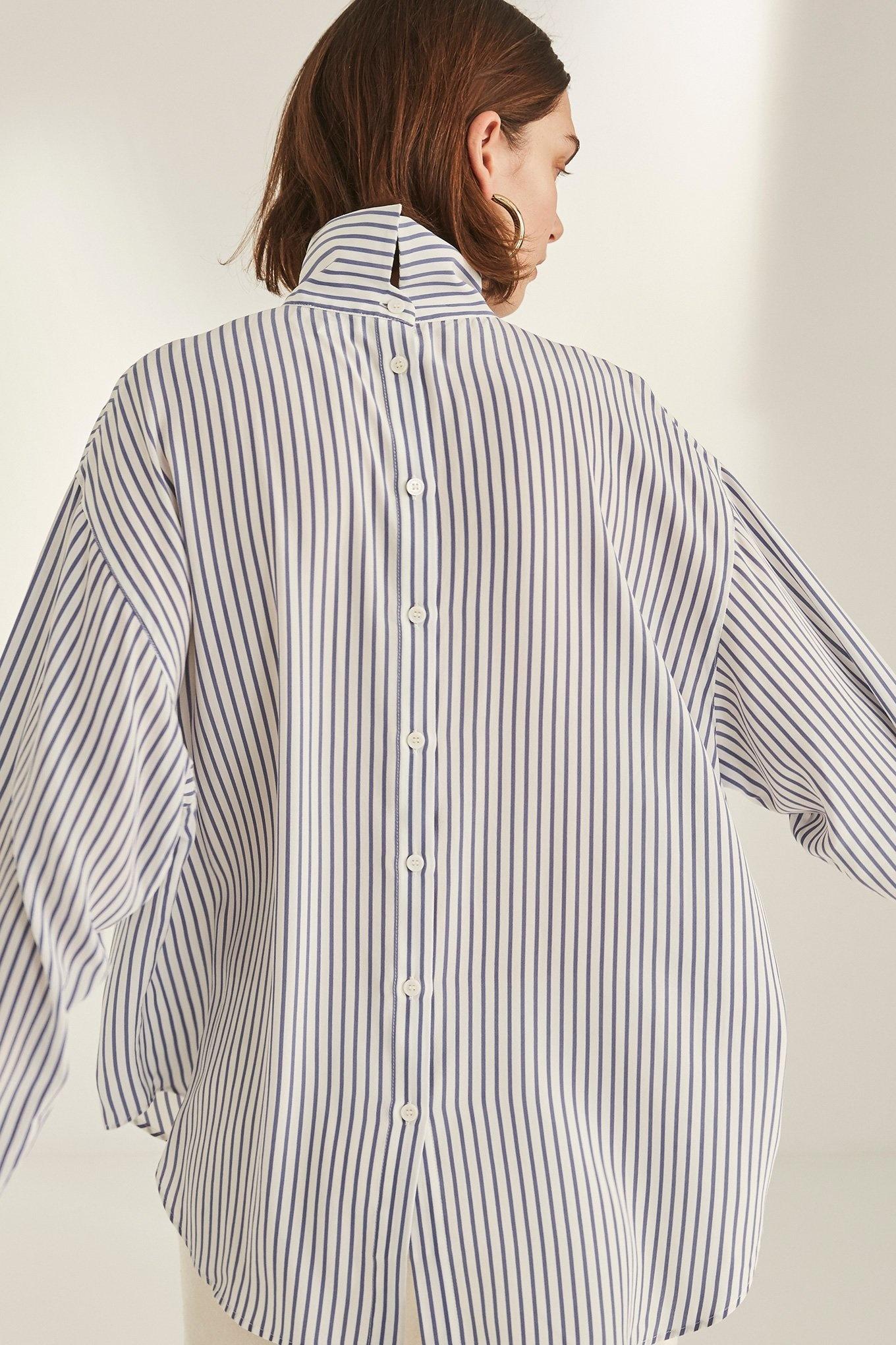 Vallie blouse Blue Stripe