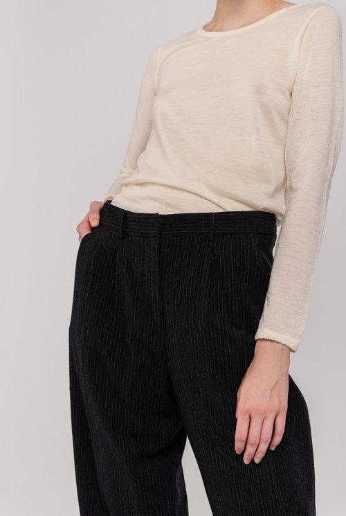 Pleated trouser Dark blue pinstripe