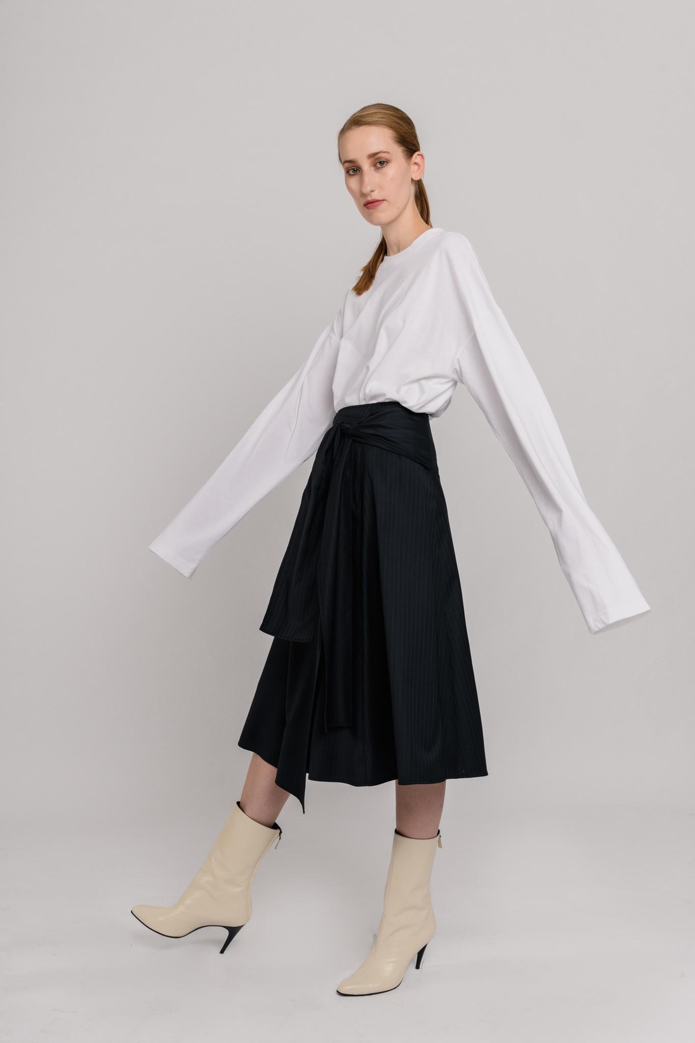 Ally skirt Pinstripe