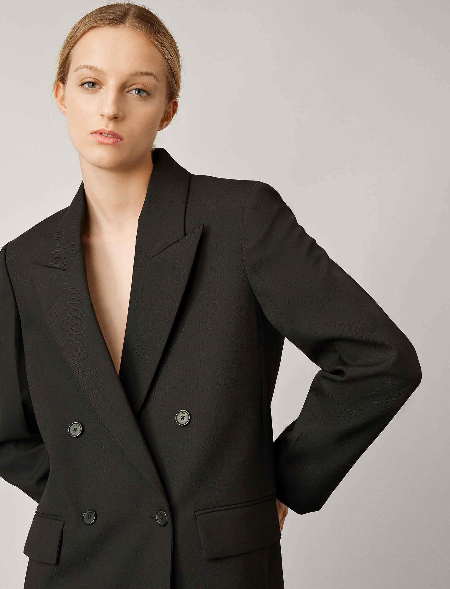 Morgan double breasted blazer Black