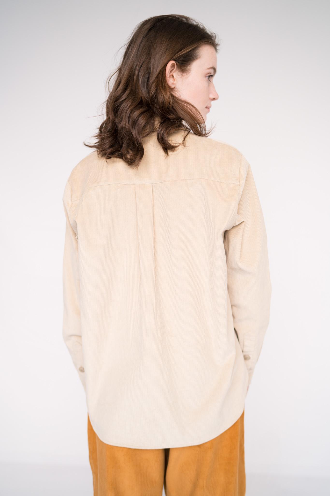 Loose shirt Peter Corduroy  Stone
