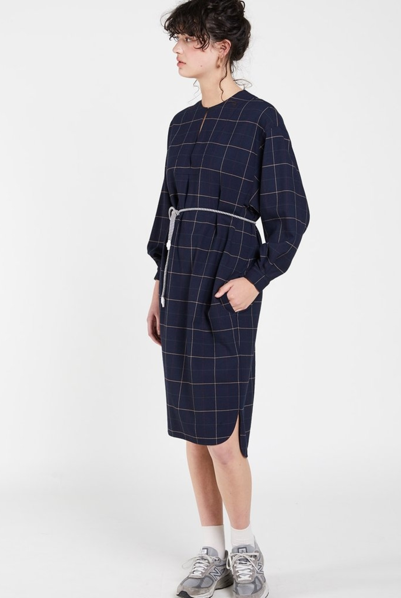 Smoke dress Navy Check