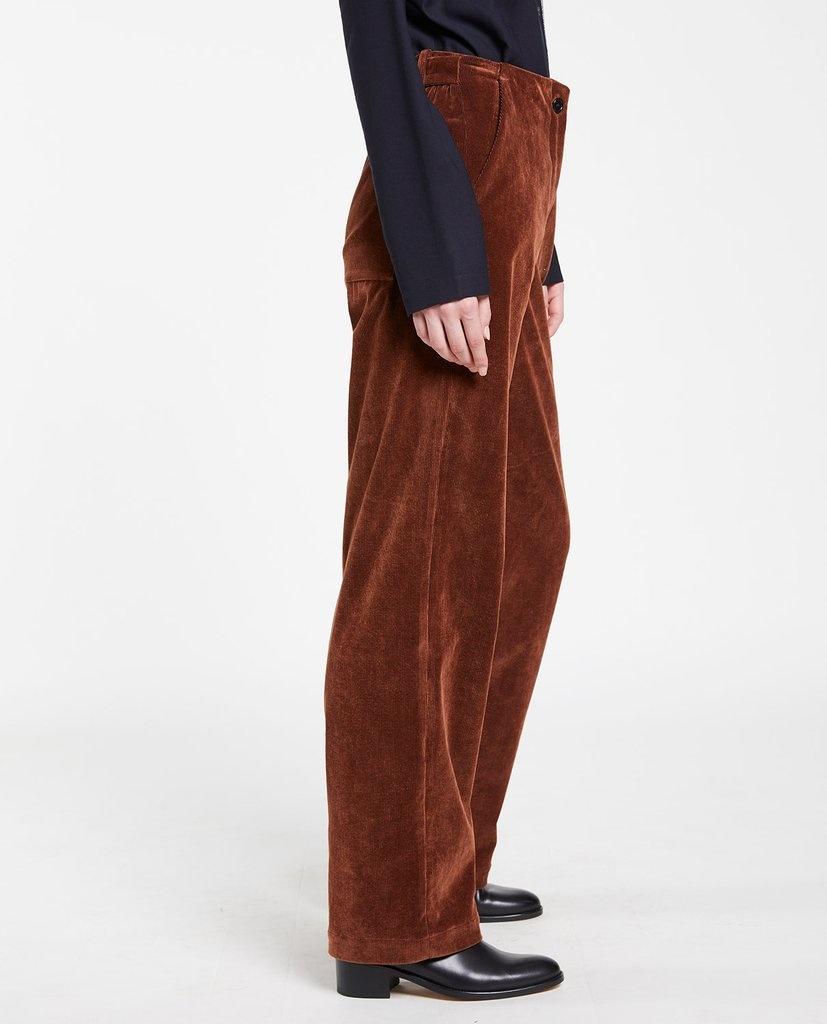 Laitue trouser rib Chestnut