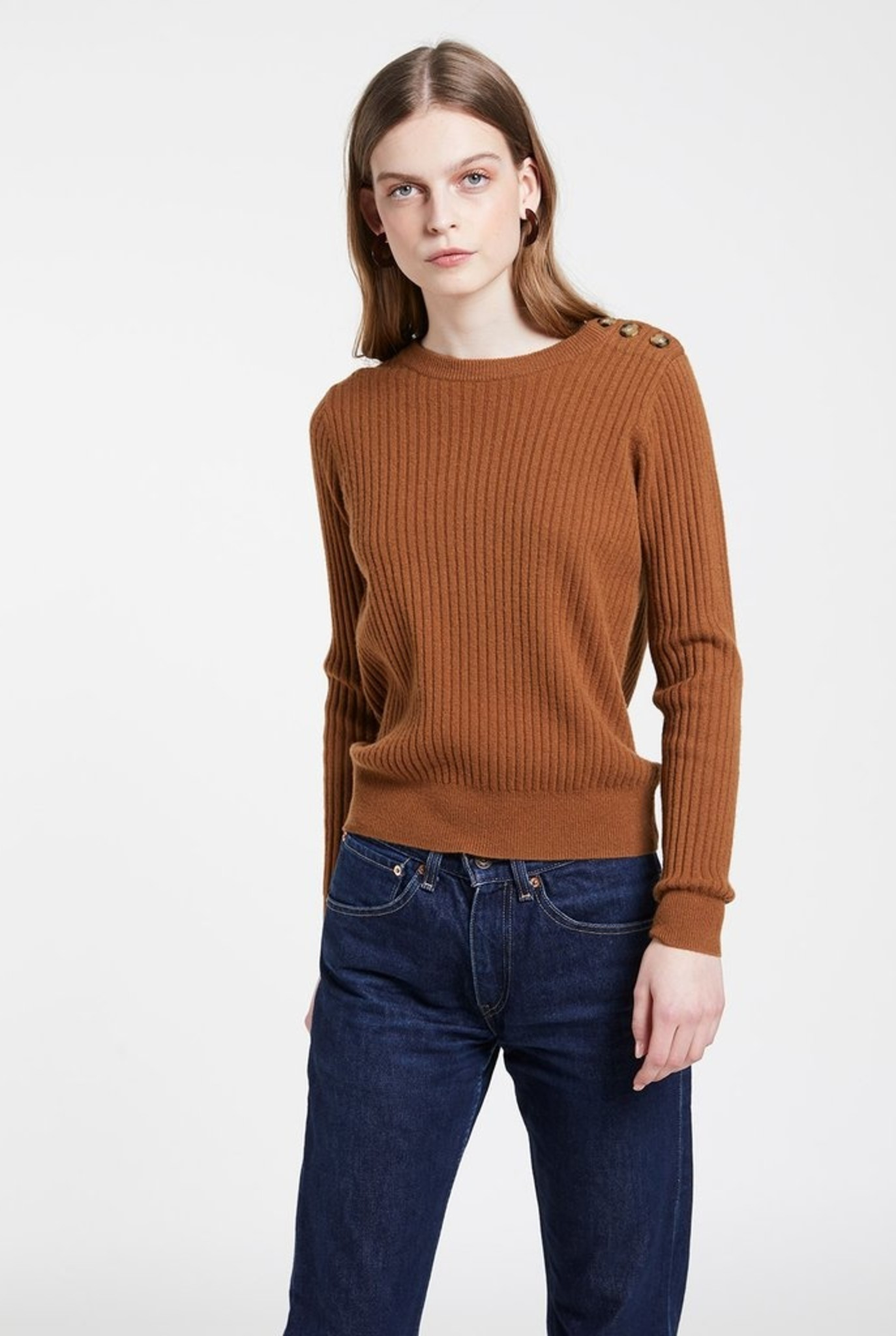 Lumina ribs sweater havana