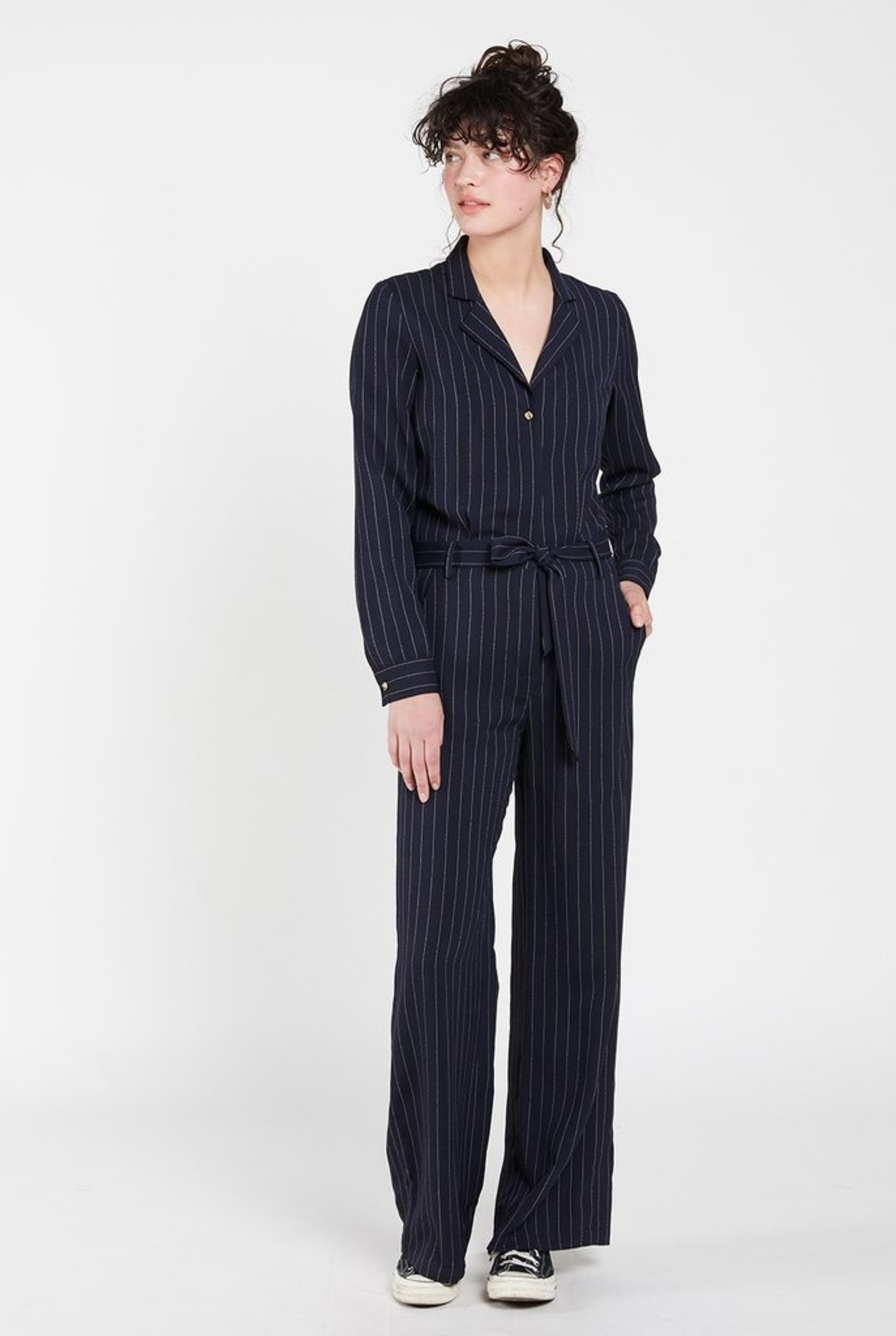Kintaro jumpsuit stripe Navy