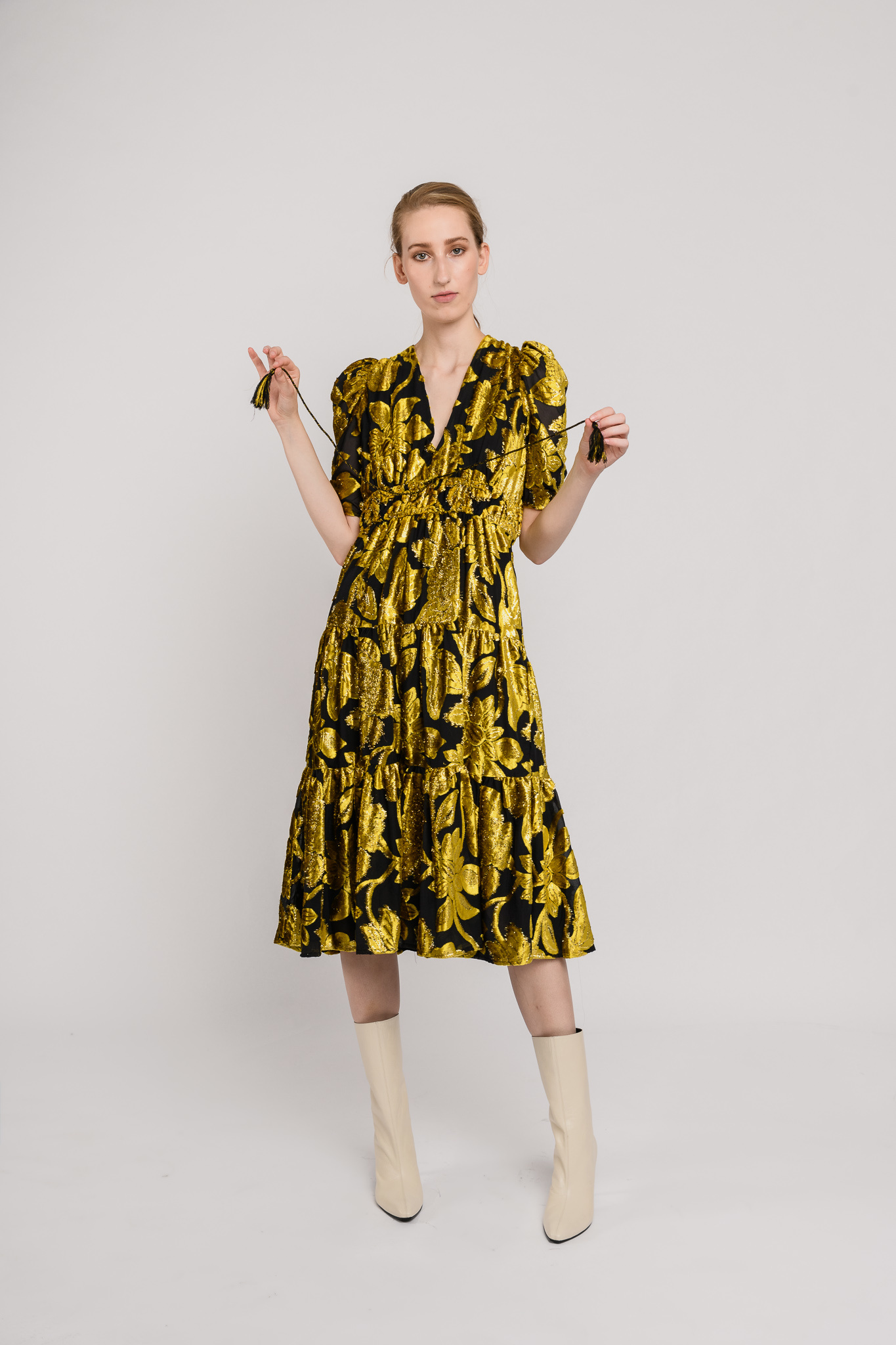 Loretta dress Citrine flower