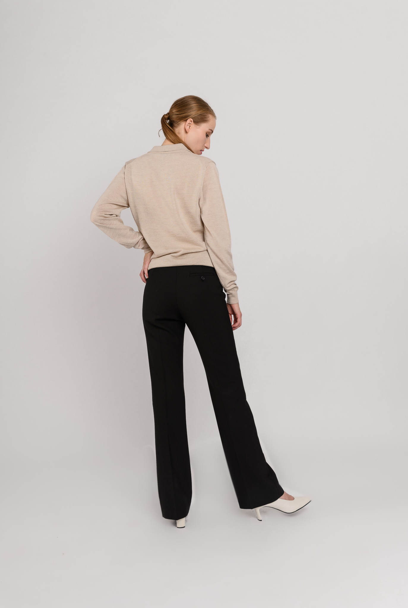 Sloane wool trousers black
