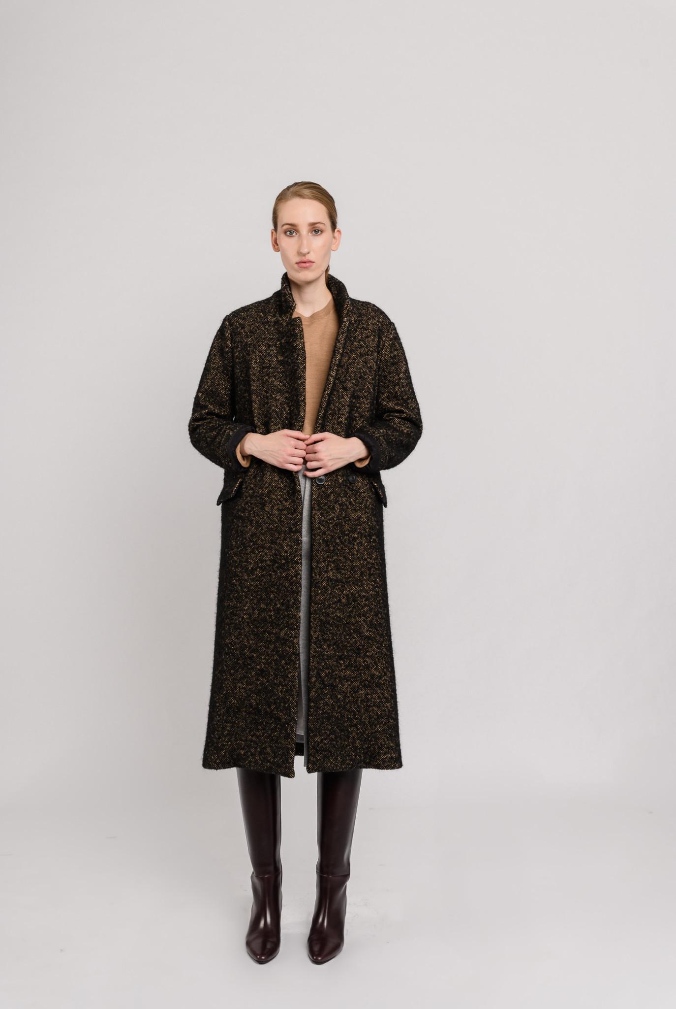 Coat brown black melee