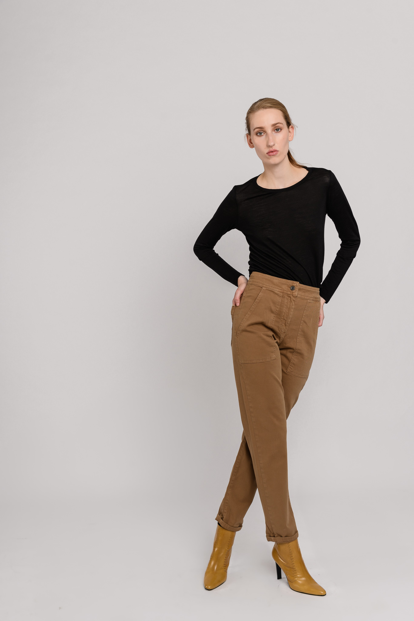 Magnus wide leg trousers kaki