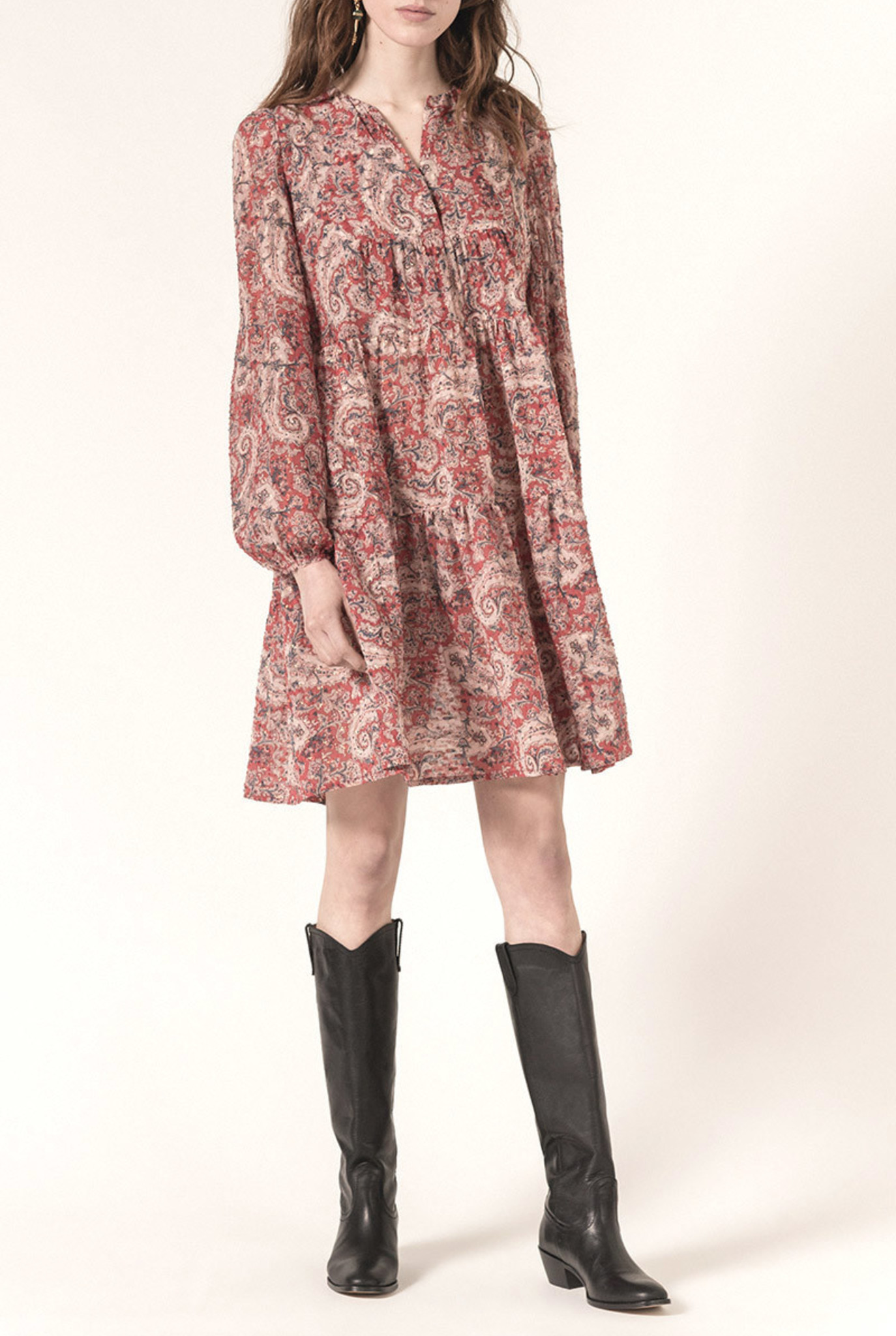 Milie dress Cachemire print