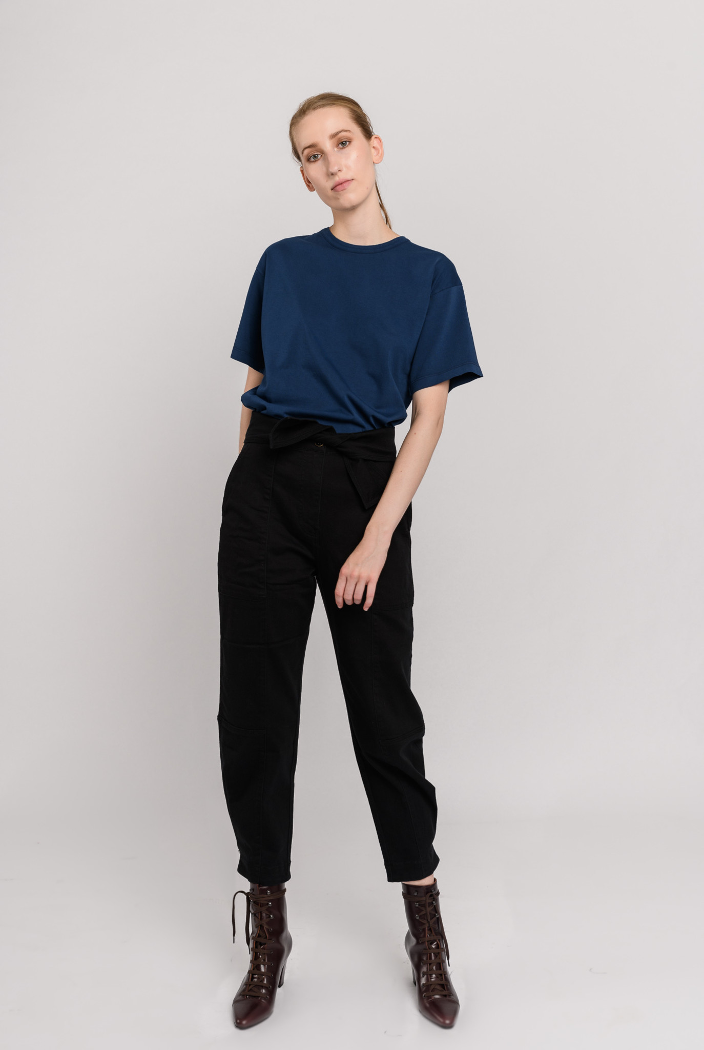 Unisex t-shirt S/S Navy Peony