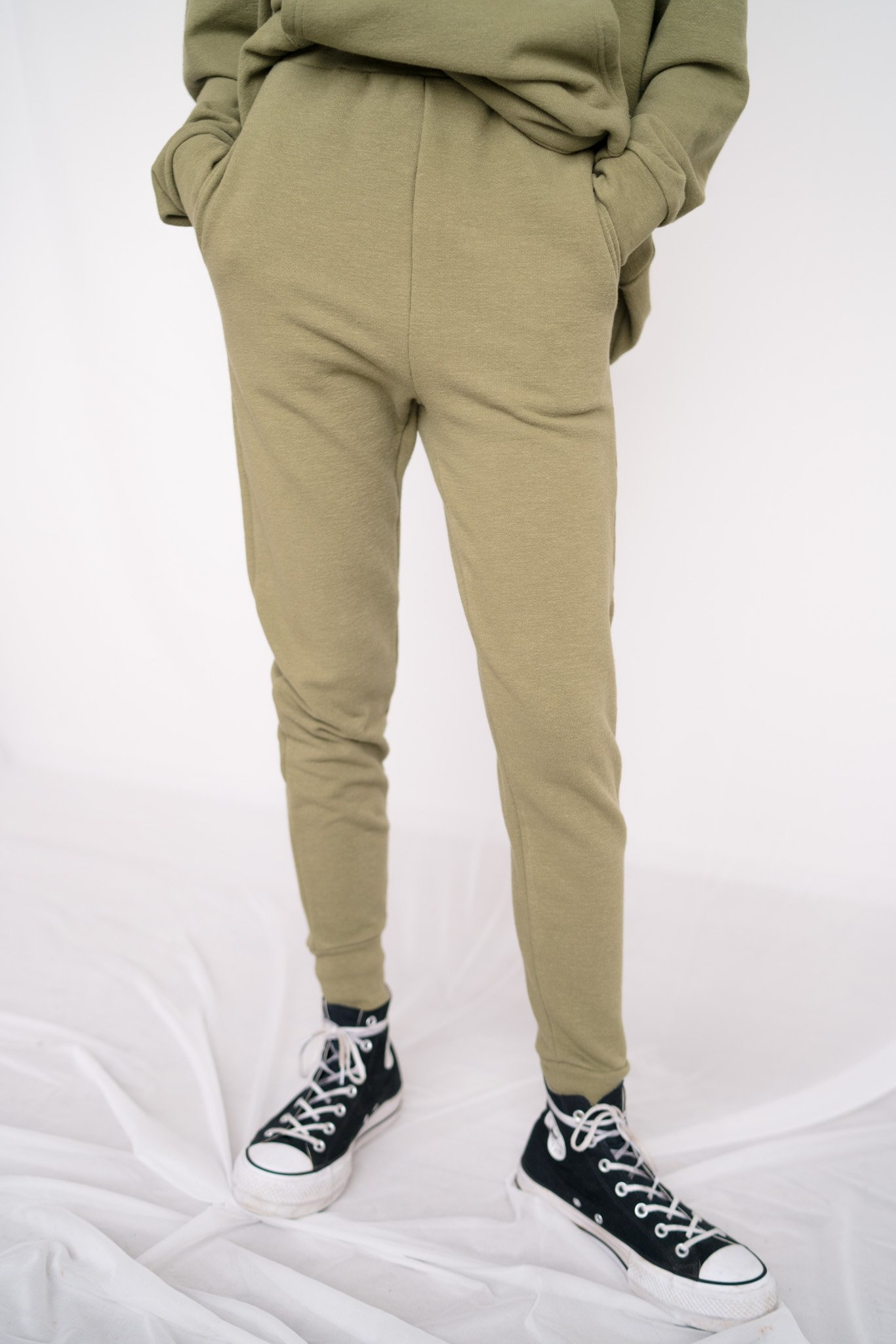 Classic jogging pants Loden Green