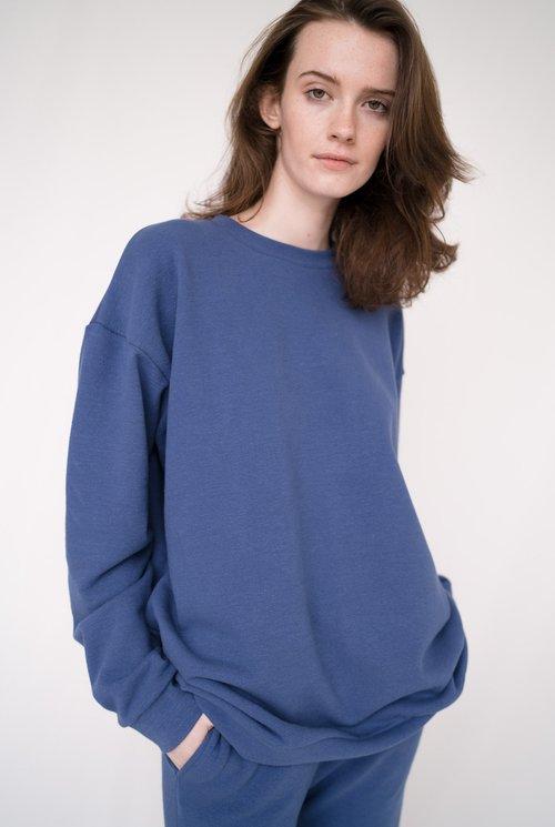 Oversized Classic sweater Navy Peony