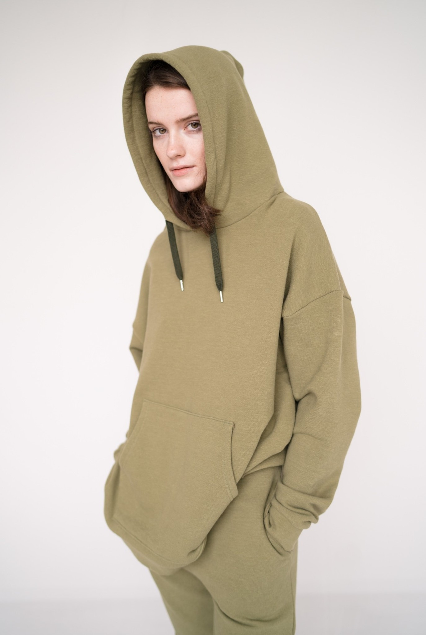 Classic hoodie Loden Green