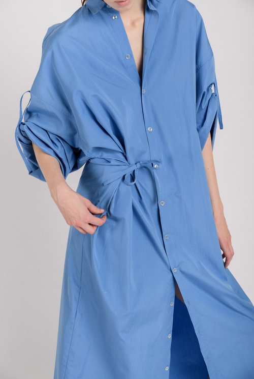 No 10 long dress blue cotton
