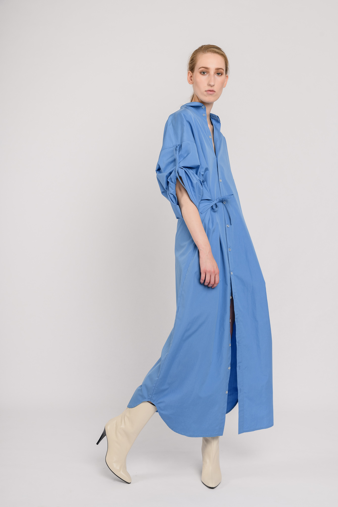 No 10 long dress blue cotton