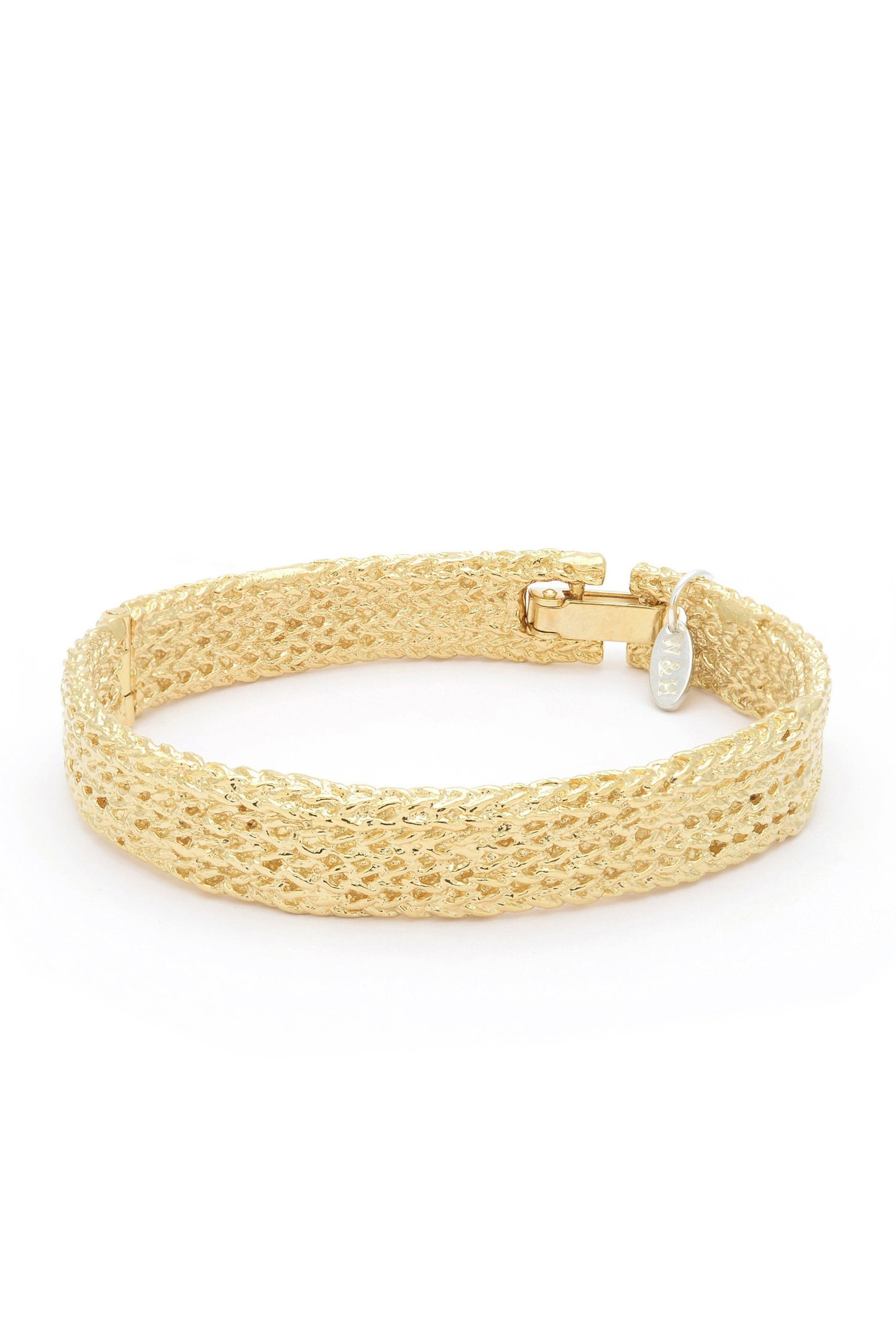 Textured bracelet Goldplated