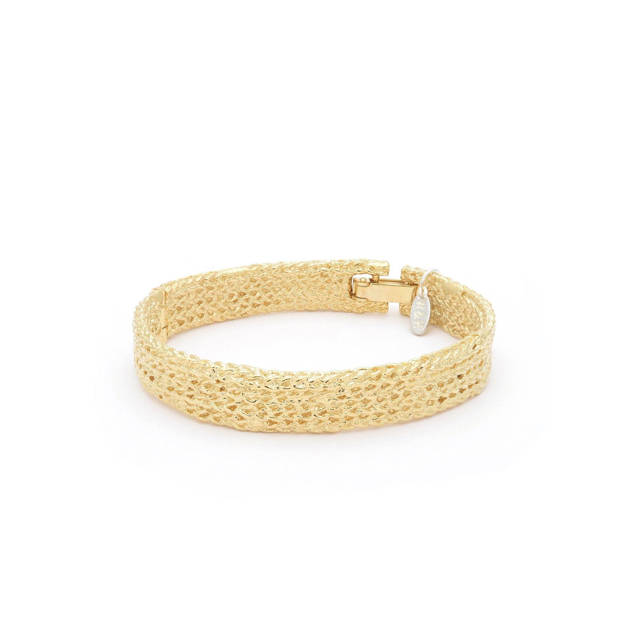 Textured bracelet Goldplated