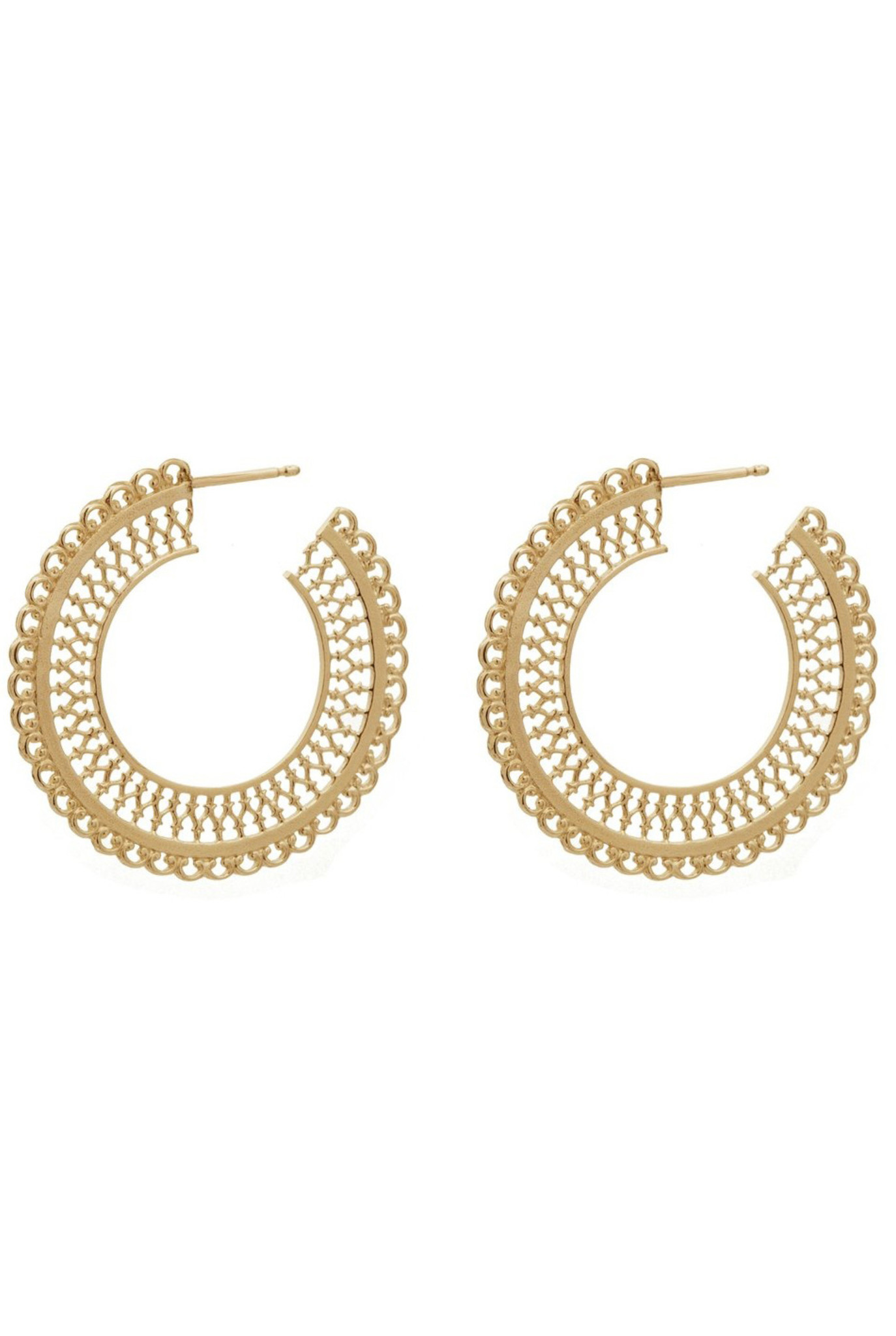 Filigree hoop earrings Goldplated