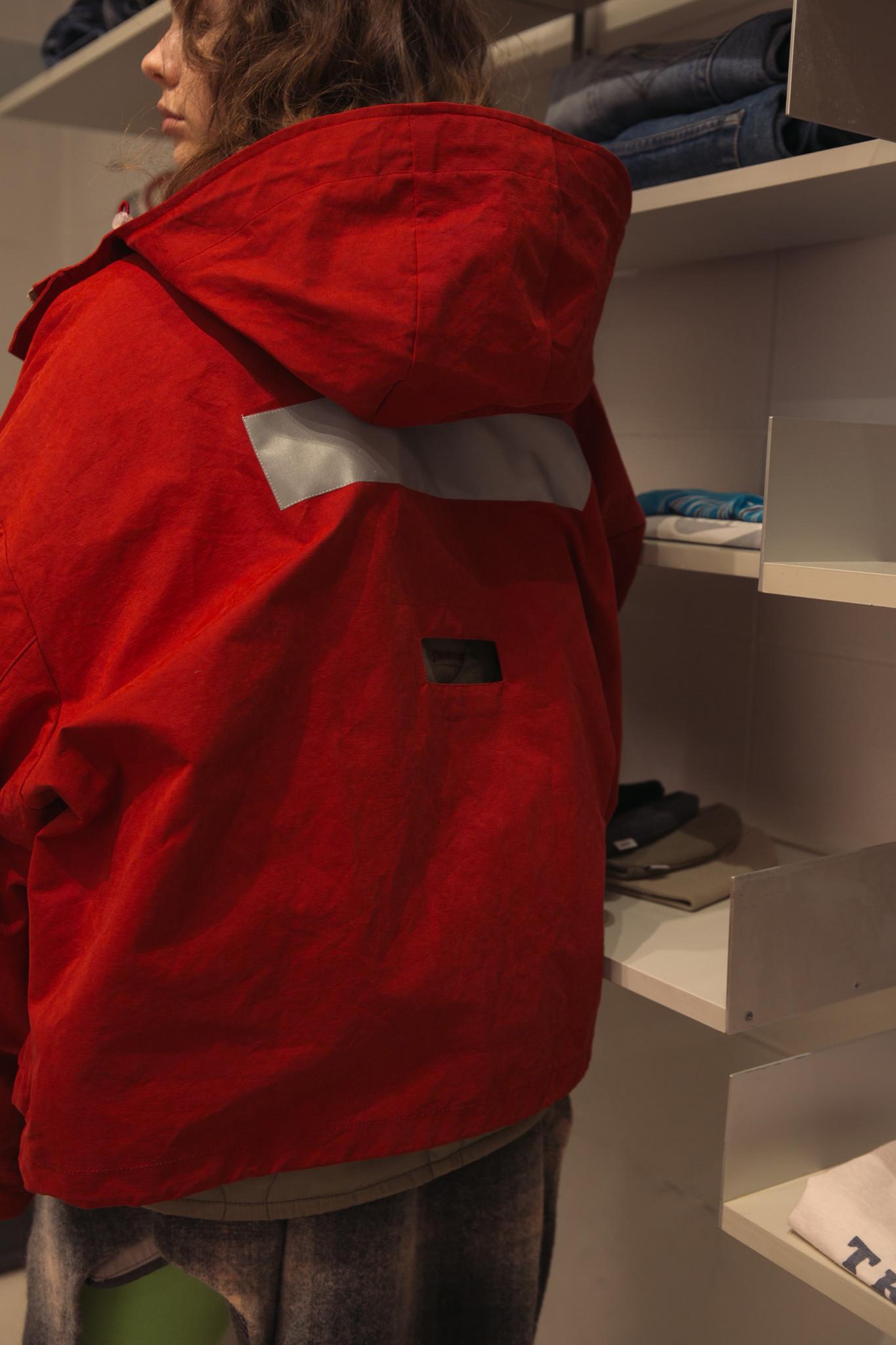 Oversized short jacket Red