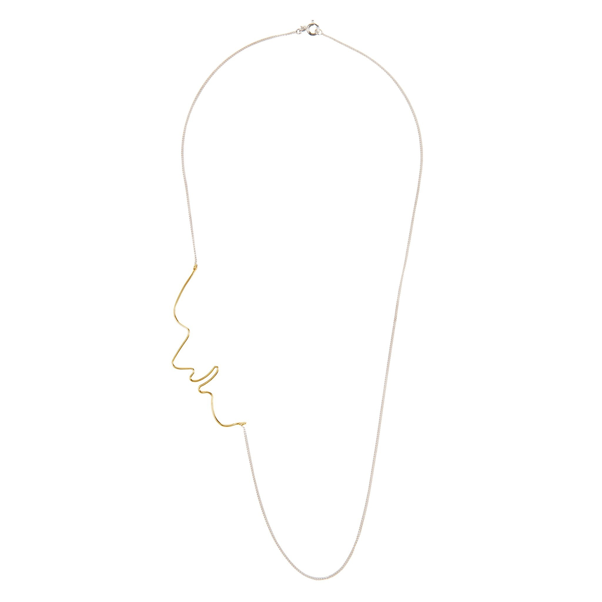 Long necklace with Face detail