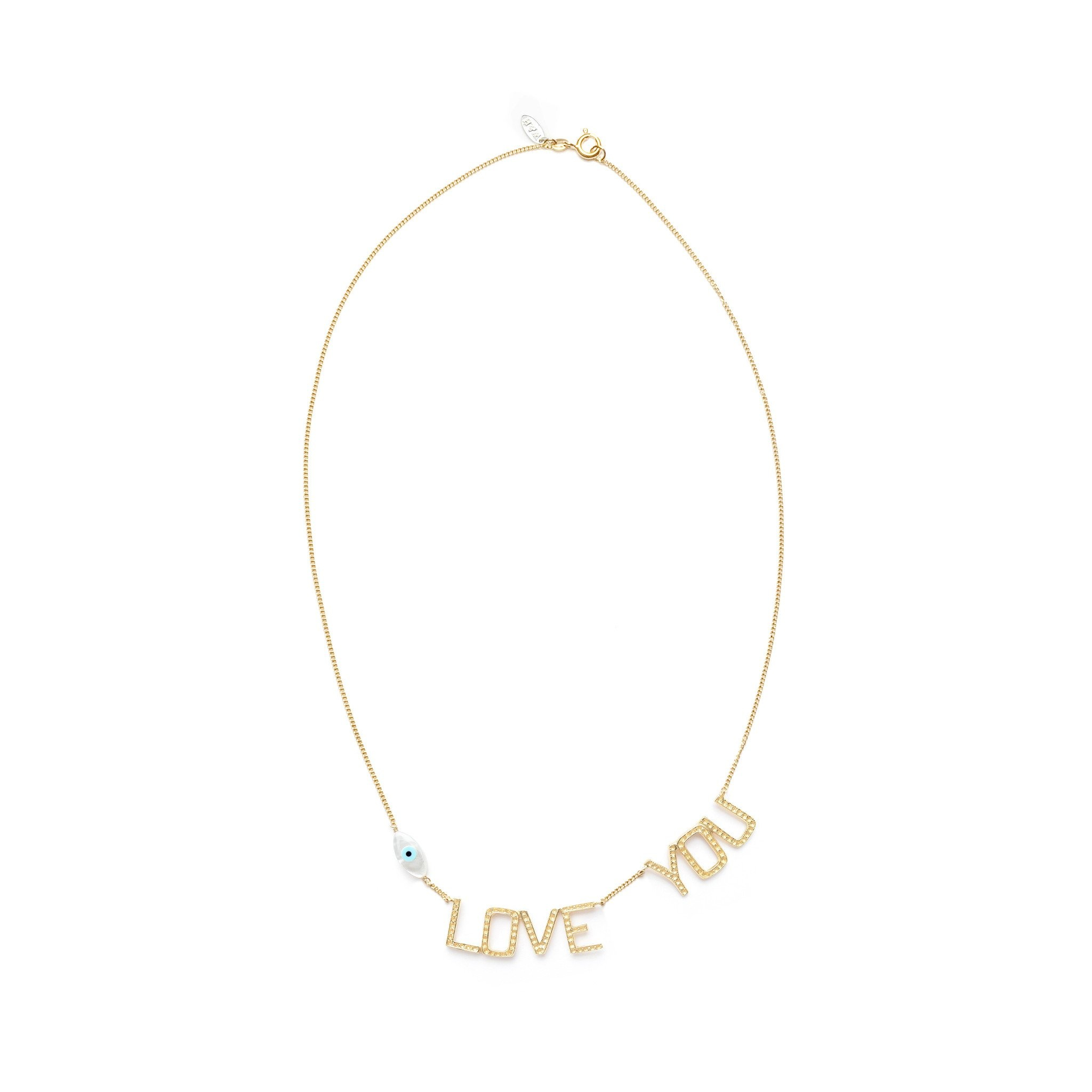Eye Love You necklace Goldplated