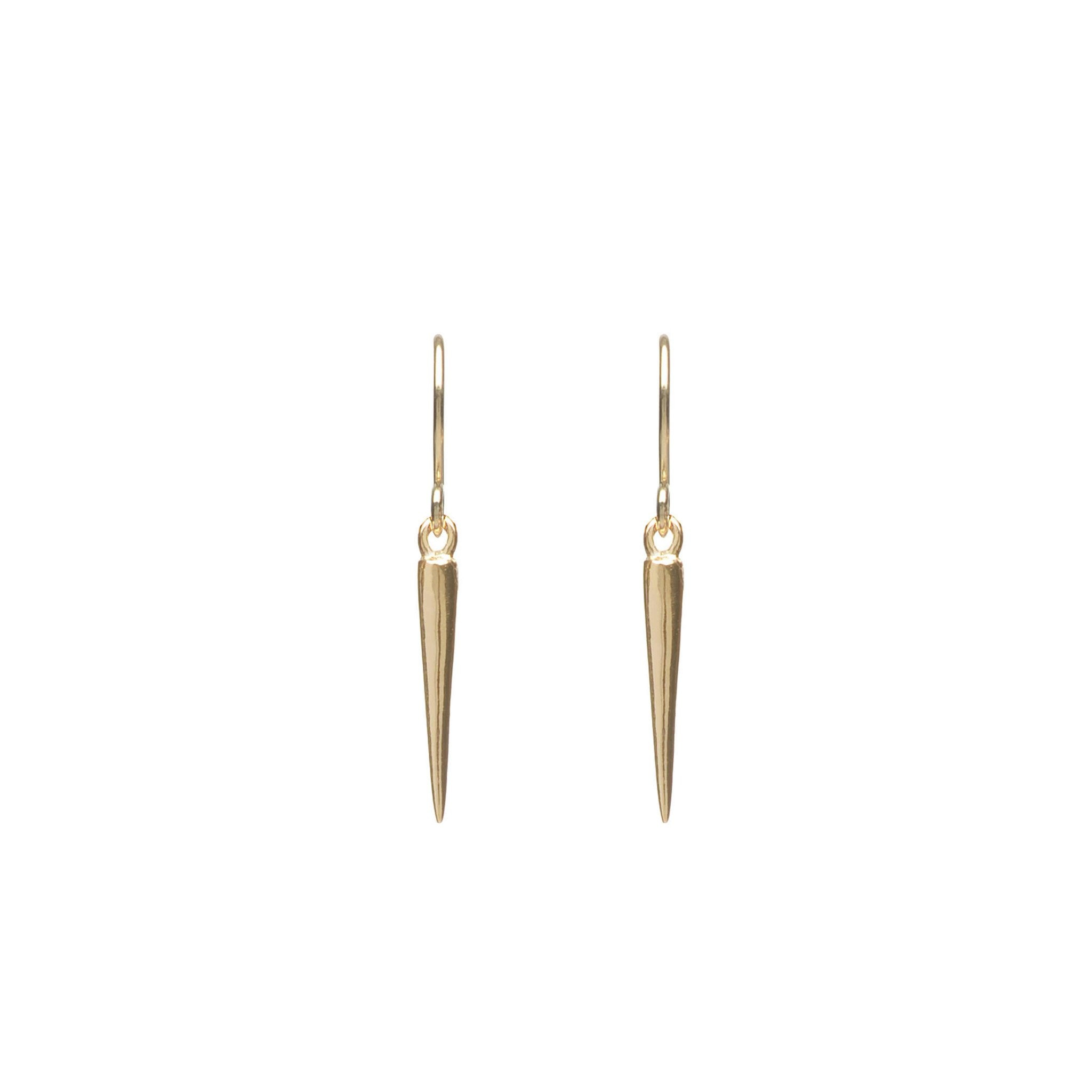 Hook earrings with spike pendant Goldplated