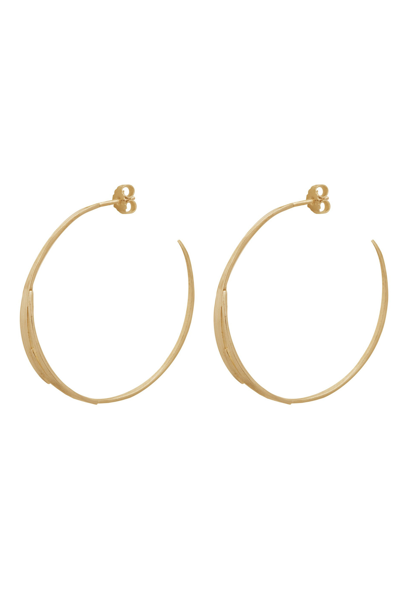 Bamboo leaves earrings Goldplated
