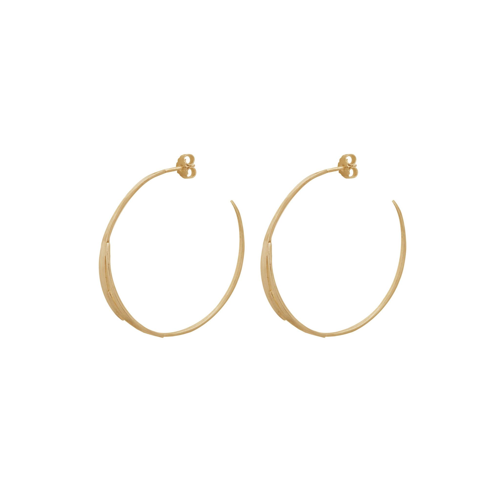Bamboo leaves earrings Goldplated