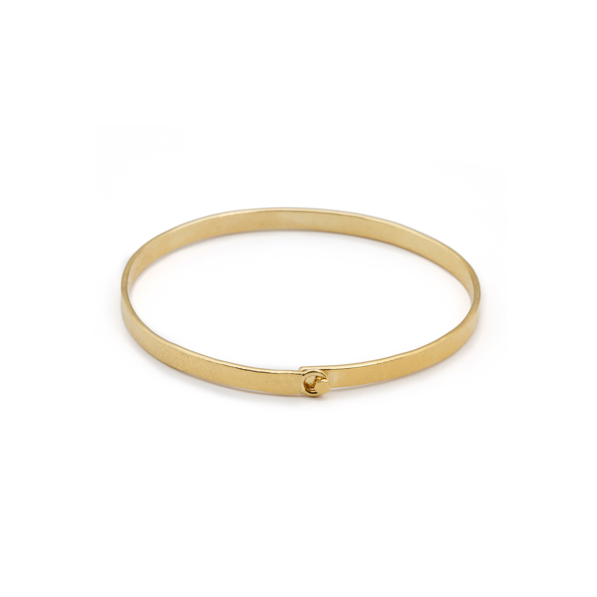 Bracelet with clasp Goldplated