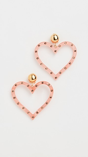 Affection earrings candy pink-rhinestone
