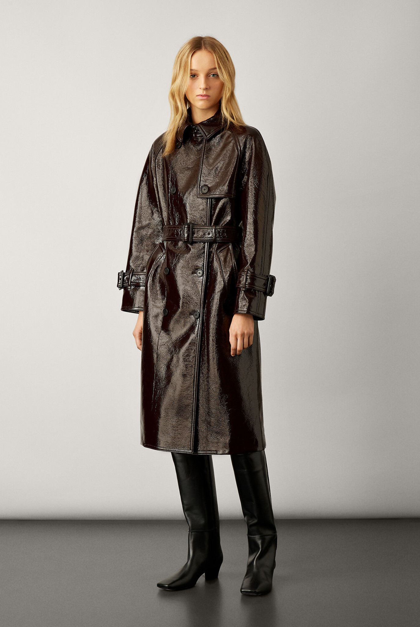 Trench Coated Maroon
