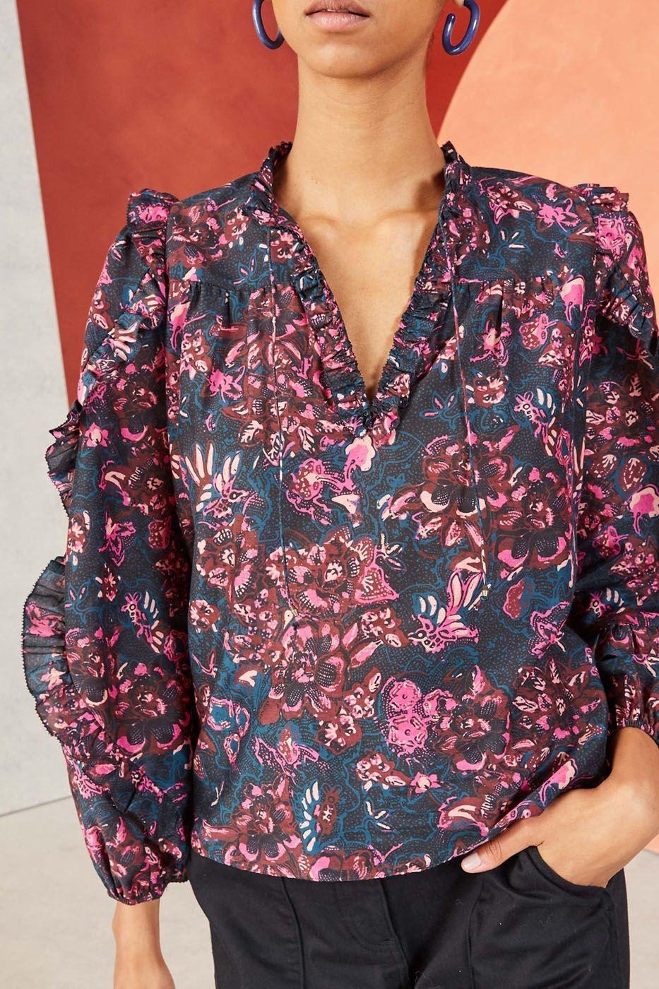 Rana blouse Midnight pink