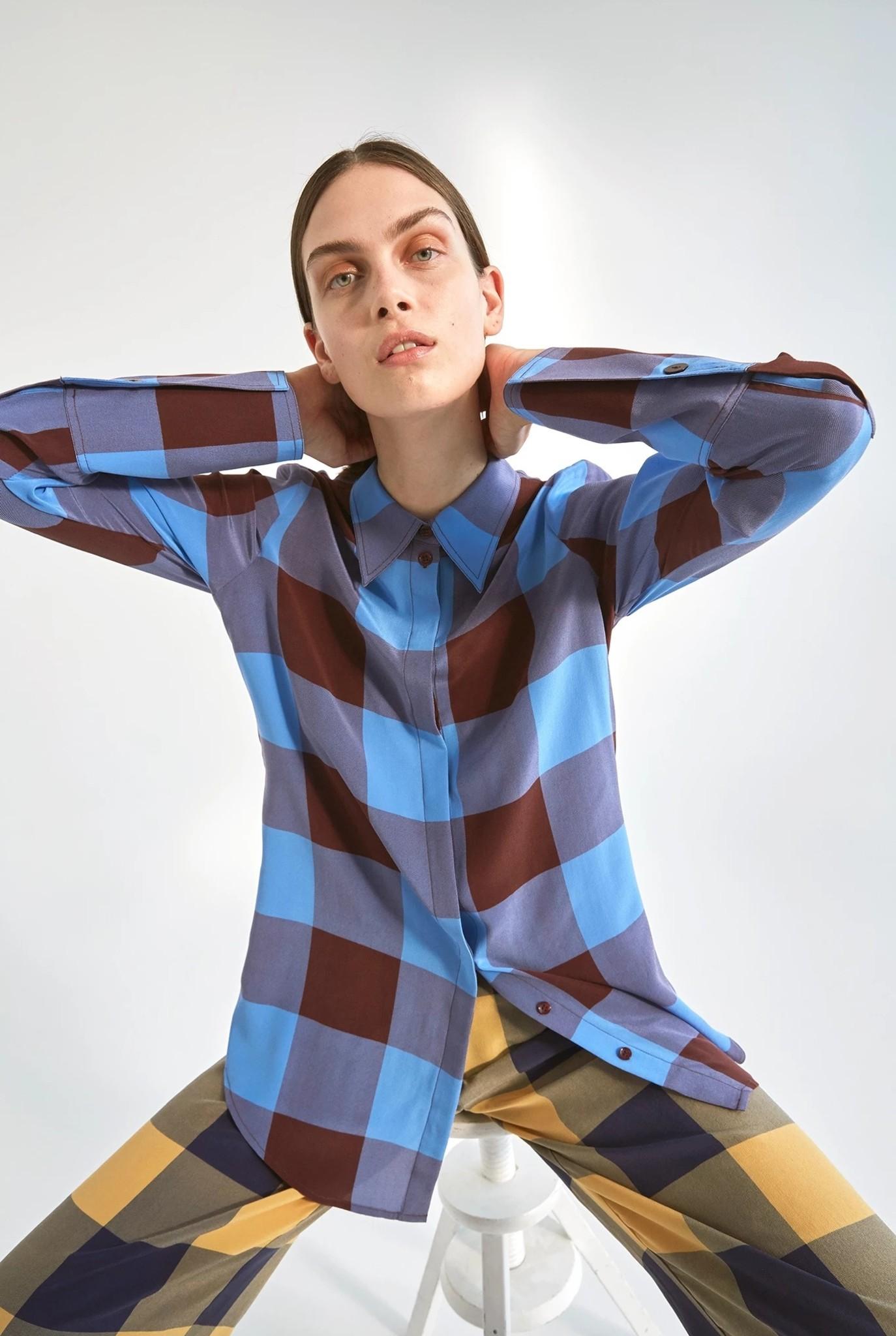 Valentin shirt blue check