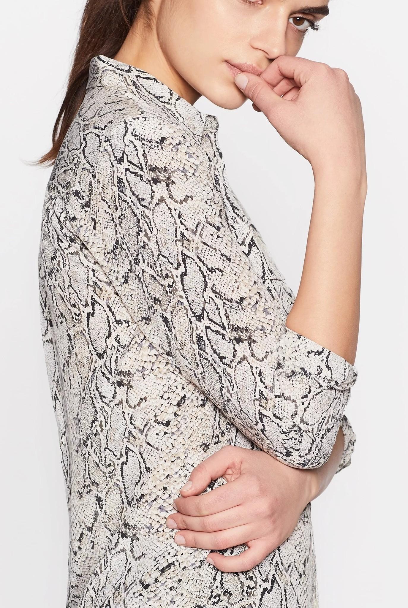 Slim signature blouse Natural print