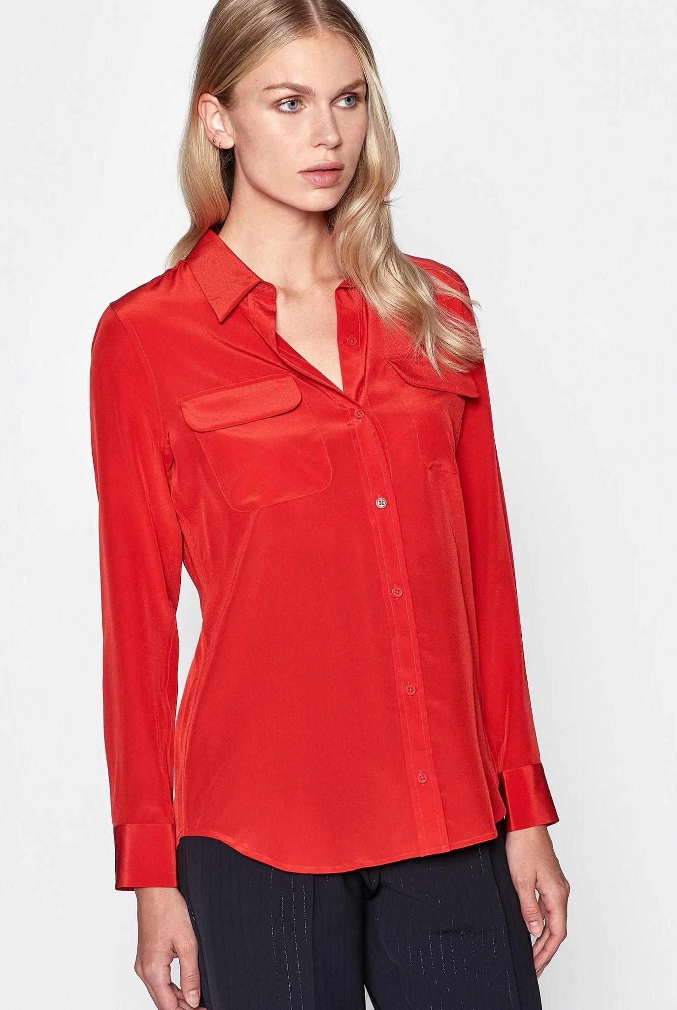 Slim signature blouse Aura Orange