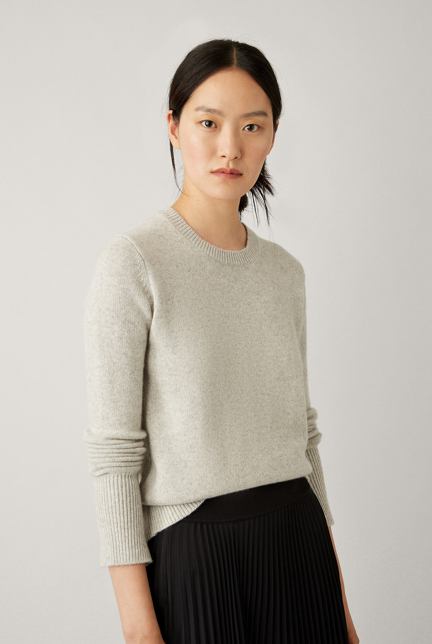 Round neck sweater Pearl cashmere