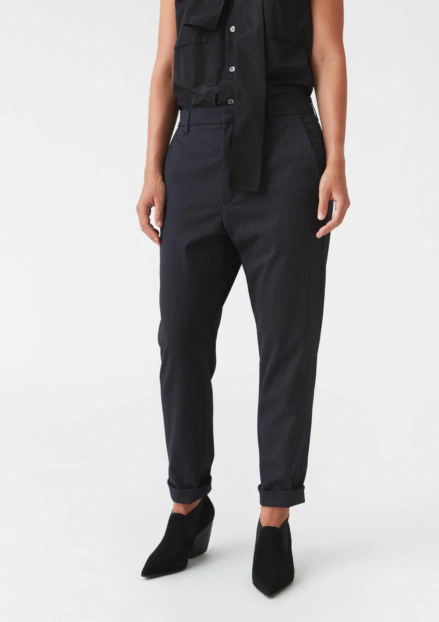 News Trouser Dk Blue Pinstripe