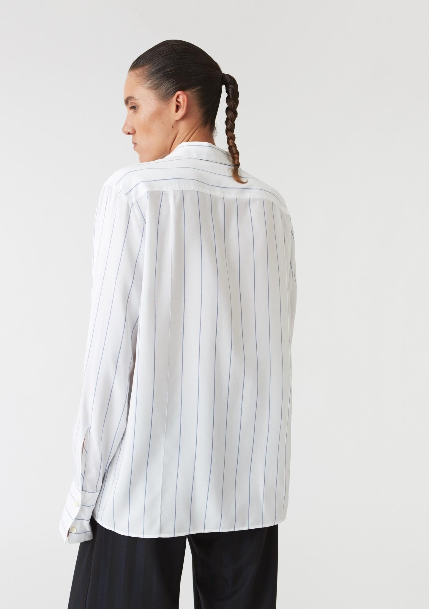 Crease shirt Blue stripe