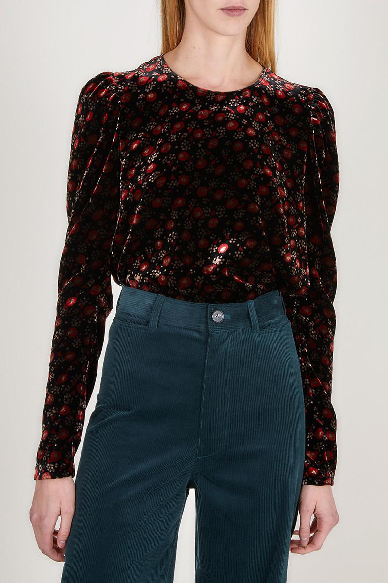 Marta blouse black print CPH