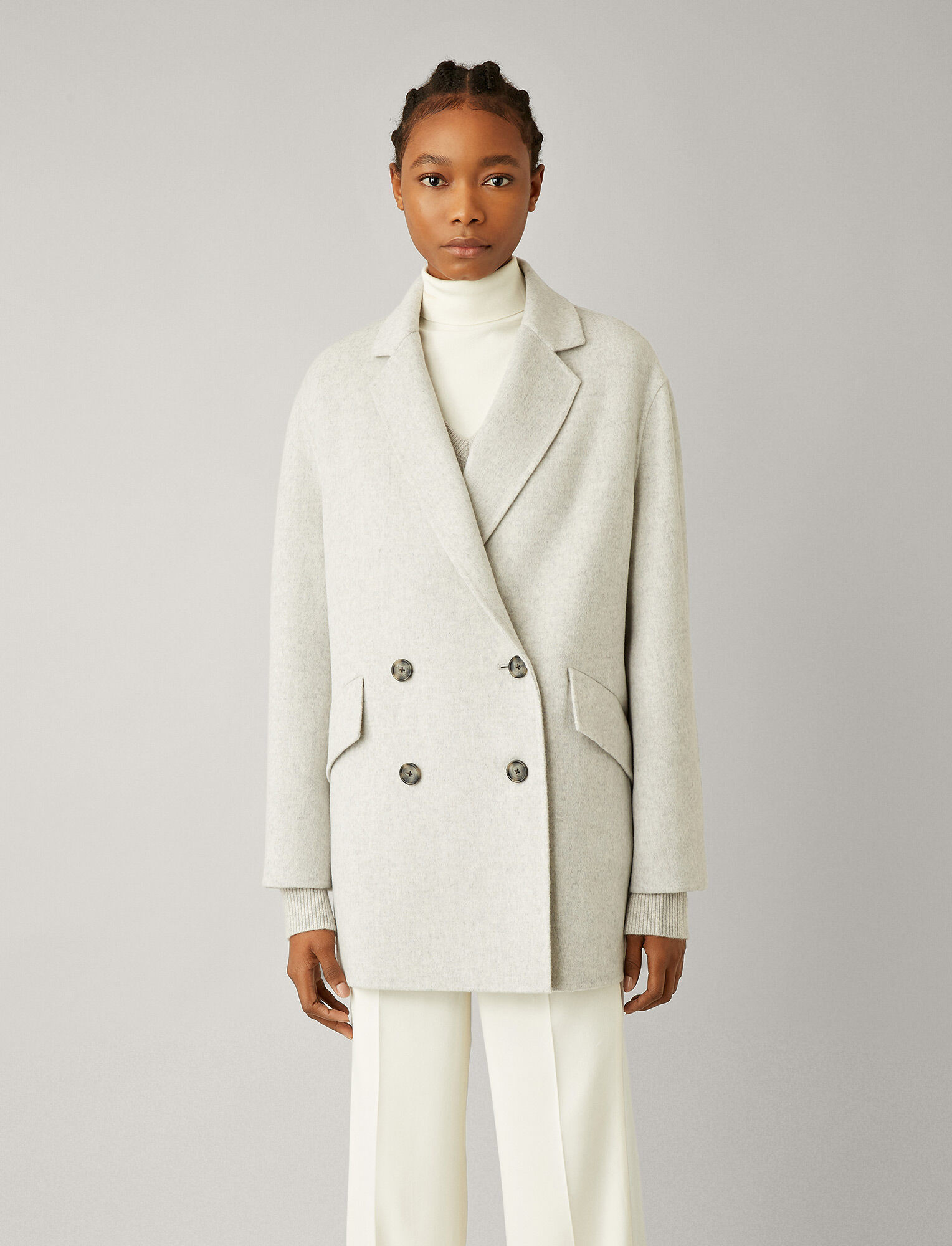 Milburn Pearl coat cashmere