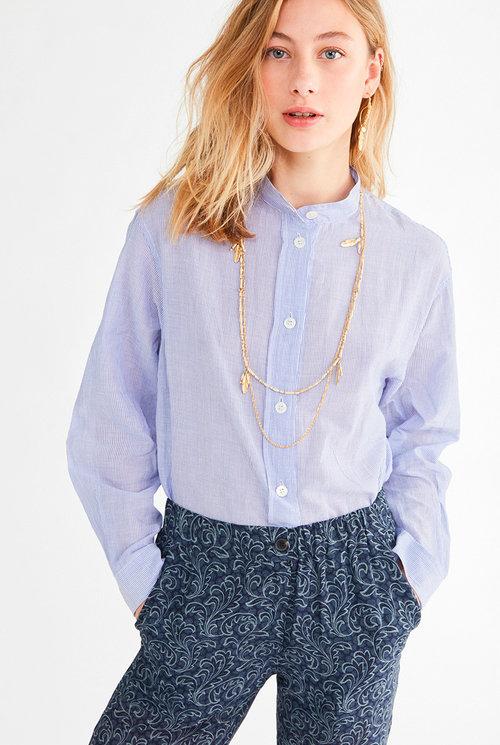 Lidiane blouse White/Blue stripe
