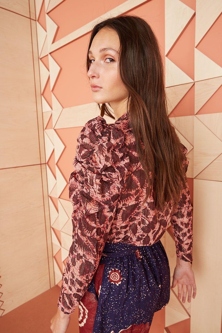 Adina blouse bordeaux